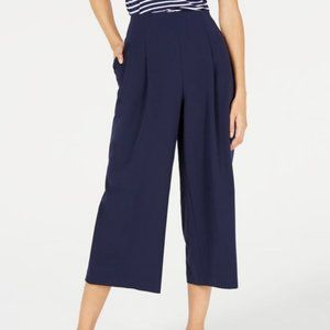 NWT Maison Jules Pleated Cropped Trousers Sz 10